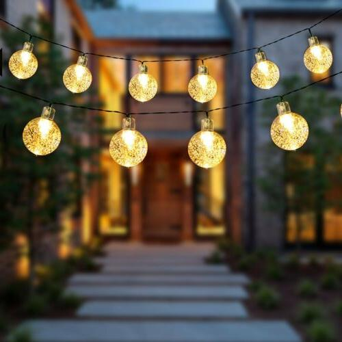 Solar Powered 30 String Yard Decor Lamp Outdoor Waterproof