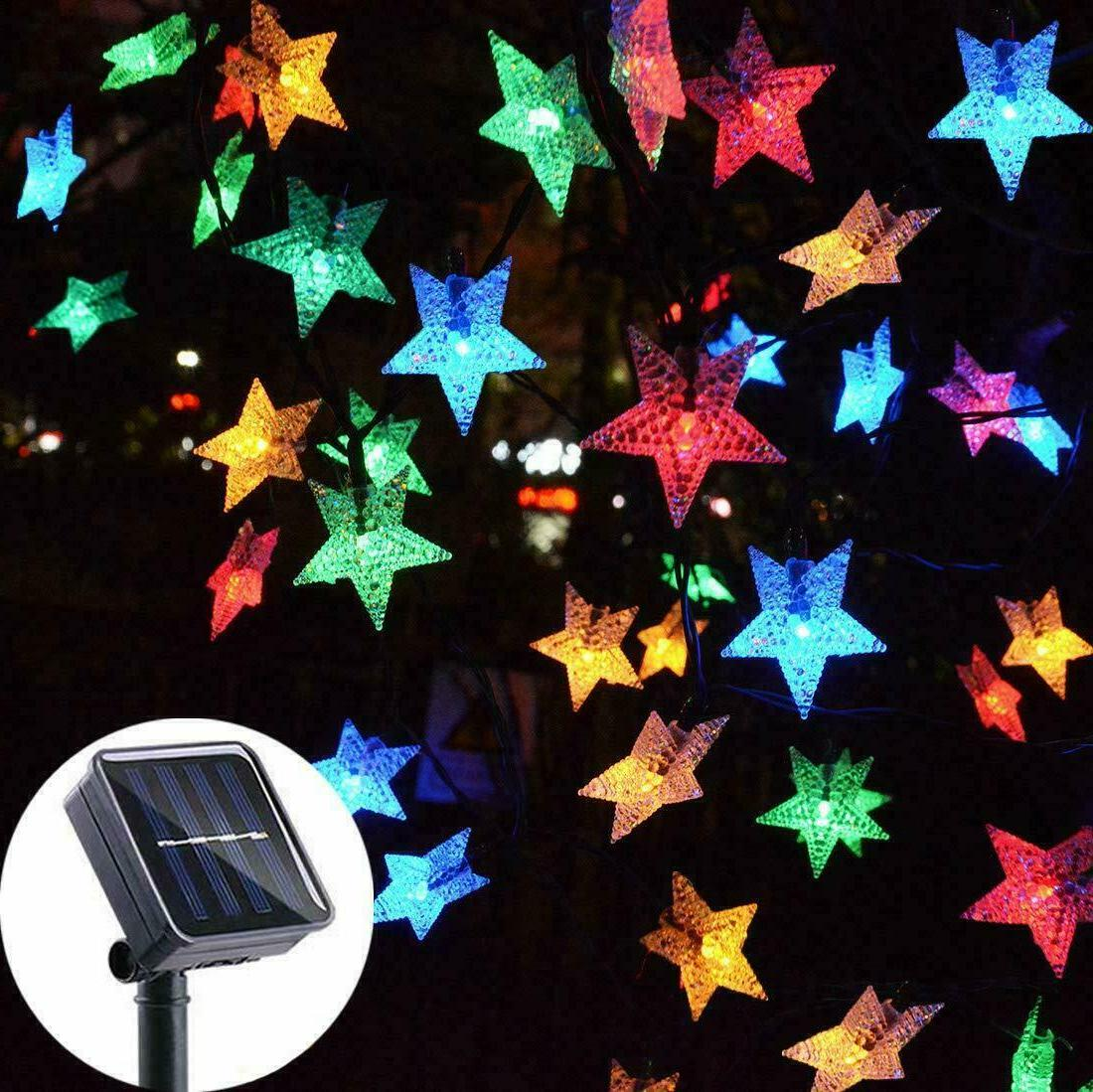 Solar Powered 100 LED String Fairy Lights Garden Party Decor