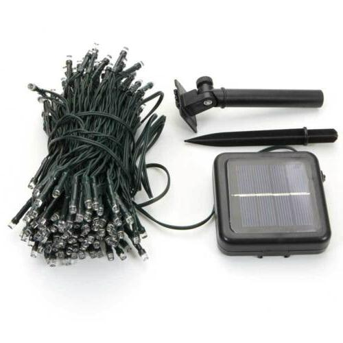 Solar Powered 60/100/200 LED String Fairy Lights Garden Outd