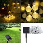 Solar Powered Globe Fairy String Bubble Ball Lights for Outd