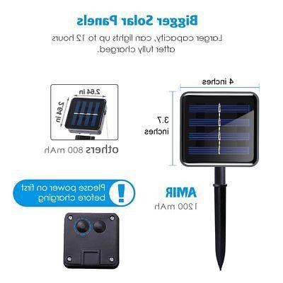 AMIR Solar Powered String Lights, LED Wire Lights, 72ft Modes