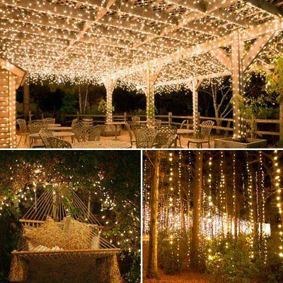 AMIR Solar Powered Lights, LED Wire Lights, 72ft 8 Modes