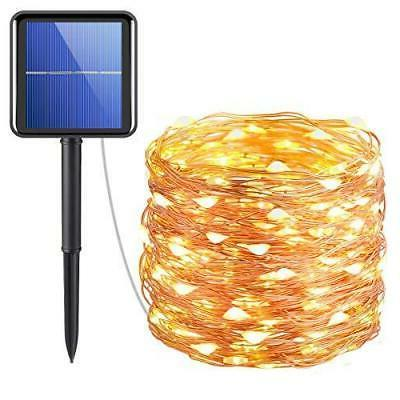 solar powered string lights wire