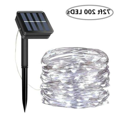 solar string lights 200 led solar fairy
