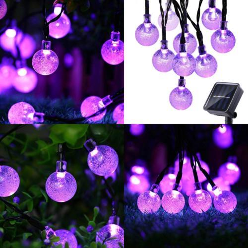 solar string lights 20ft 30 led outdoor