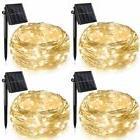 Ankway Solar String Lights 4 Pack, 100 LED Solar Fairy Light