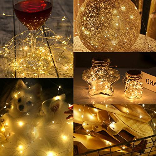 Moreplus String 100 33ft Modes Lights Indoor/Outdoor Decorative Lights for Home, Yard Wedding, Christmas