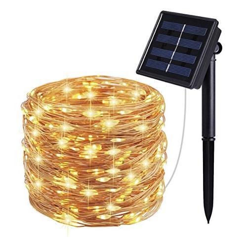 solar string lights modes copper
