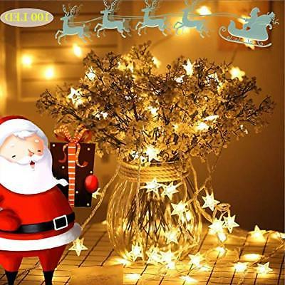 Star String 100 LED FT Plug In Fairy For Indoor