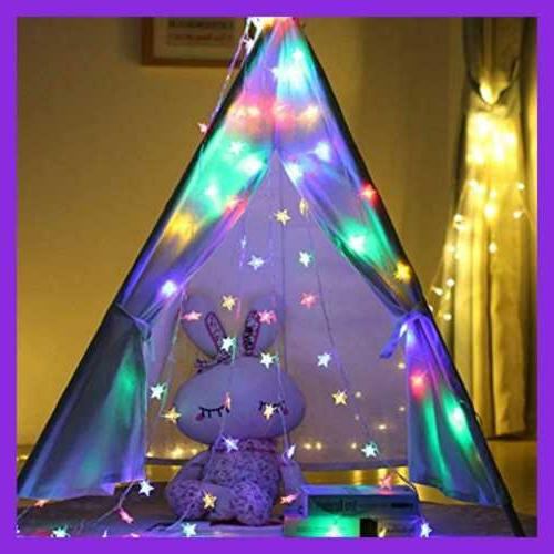 Star String Lights 100 In Color Indoor & Outd