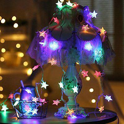 Star String Lights 100 Plug In Color
