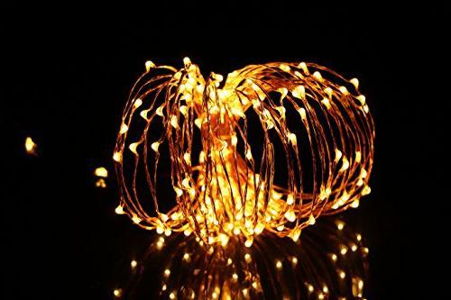LED Lights, 200 Micro White on 35 Copper Wire Christmas Bedroom Mason Jar Craft DIY Decor