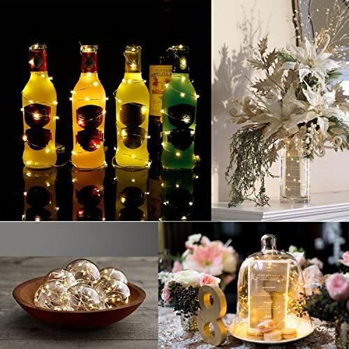 7Feet Starry String Lights,Fairy Lights Battery with On Silvery Wire. 2pcs CR2032, Wedding