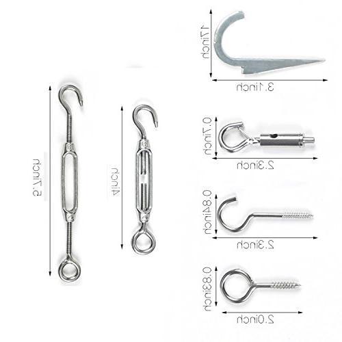 LeDengLux Accessories, Commercial Light Hanging Steel Hooks Other Supplies,65ft