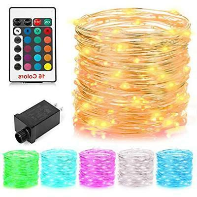 string lights 100 led 16 colors electric