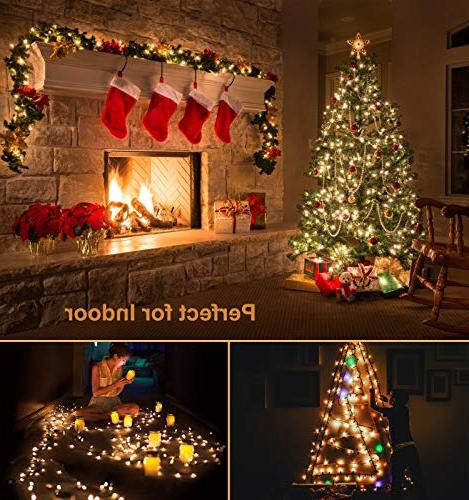 Novtech String 82FT LEDs Lights Fairy Lights Decoration for Christmas Garden Holiday White