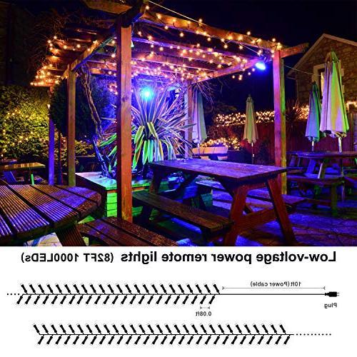 Novtech LED String 82FT LEDs Christmas Lights Fairy Decoration Lights for Christmas Garden Holiday