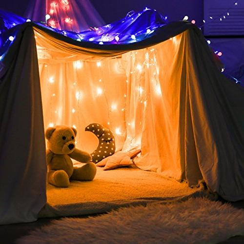 Mpow LED String with Remote 200LED Dimmable, Copper for Indoor and Outdoor, Bedroom, Wedding, Parties