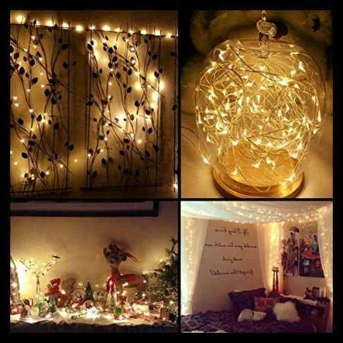String Lights 2 33 100 Fairy Twinkle Copper Waterpro WHITE
