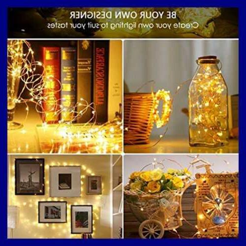 String Lights 33 100 Fairy Twinkle Copper Wire Waterpro