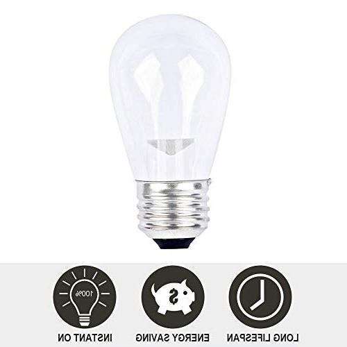 SUNTHIN 48ft LED of Lights x and Hanging 0.9 Watt Bulbs String Light