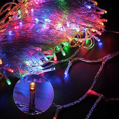 100FT 300LED Purple Twinkle Fairy String Xmas Party Light 8 Modes Tail Plug Lamp