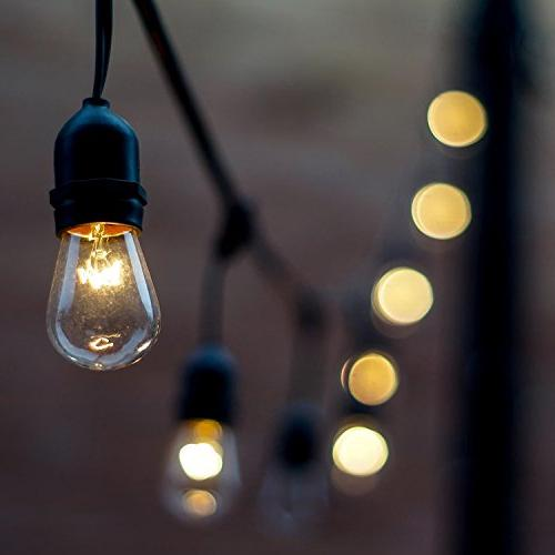Salking Lights, Decorative Waterproof String Lights Edison Connectable Garden