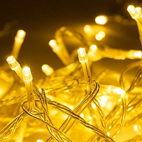 LED 100 LEDs Indoor String Lights with 8 Flashing Modes Control, String Lights Perfect Home UL Warm