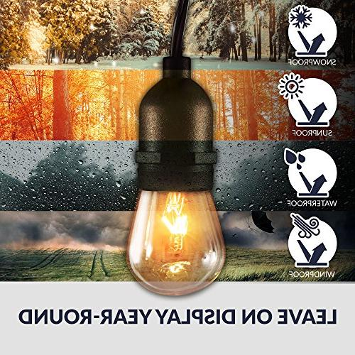 Newhouse Lights with Sockets | Weatherproof Incandescent Heavy 48-foot | Lights Bulbs
