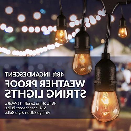 Newhouse Lighting Outdoor Lights | | Incandescent | Heavy 48-foot | Lights Bulbs