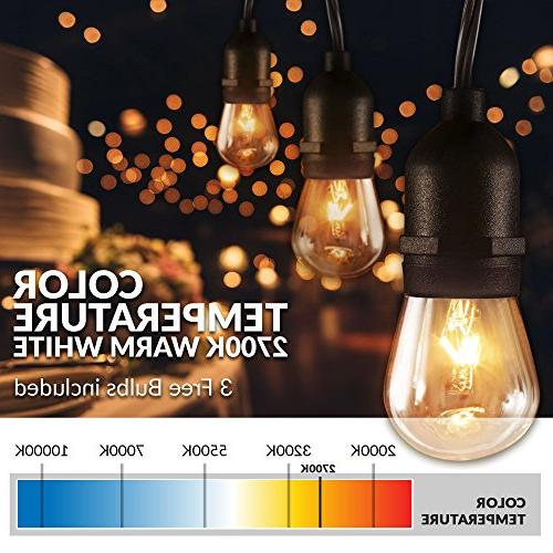 Newhouse Lights Hanging Sockets | Weatherproof Incandescent | Heavy 48-foot Cord | Lights Bulbs Included