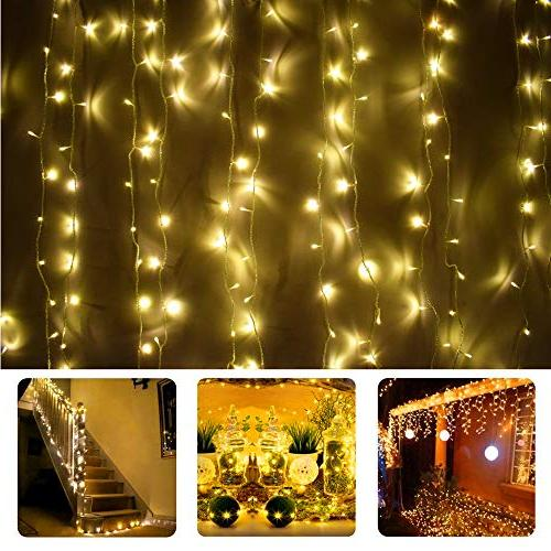 Vinsco String in LED 100 ft/30M Bedroom Patio Indoor Outdoor Home Xmas Holiday Party-Warm White