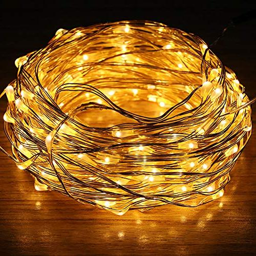 Powered Fairy, Warm Firefly Starry Control, Waterproof Decorative Lights for Bedroom, Yard