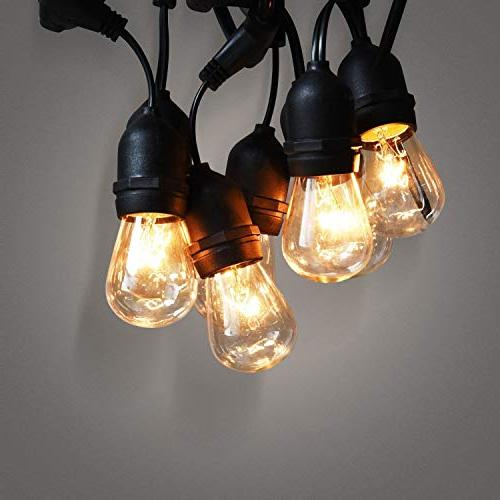 JACKYLED Outdoor Lights Edison Style Commercial Grade UL 18 Hanging Lights Ambience Duty 21 Bulbs for Wedding