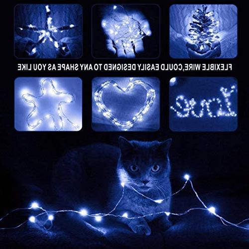 XINKAITE 30 Micro 9.8Feet/3M Fairy String Silver Wire Fairy Party Christmas Table