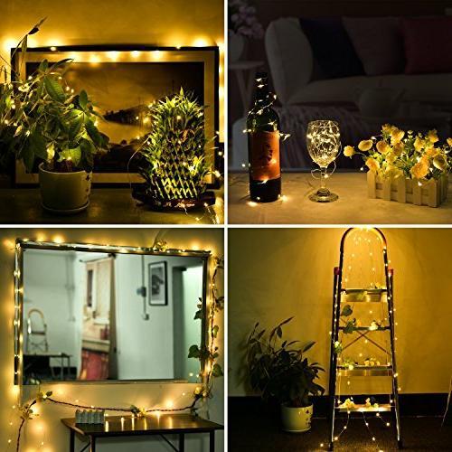 LED Lights,ANJAYLIA 10Ft/3M 30leds String Lights Party Wedding Crafting Battery Lights