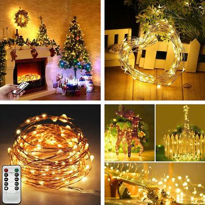 String Lights For Home Bedroom With Remote Control Led Indoo
