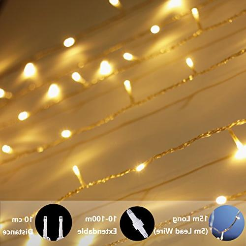 LED String myCozyLite, Plug Lights, 49Ft Warm Timer, Perfect for Indoor use with Low