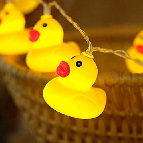 string lights plastic yellow duck