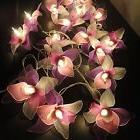 String Lights Vintage Handmade 20 White Pink Purple Orchid F