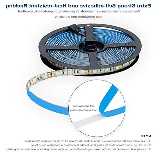 Led Light 600leds 32.8ft 10m Waterproof Flexible SMD Strip Kit with 44 Keys IR Controller and 12V Power Supply