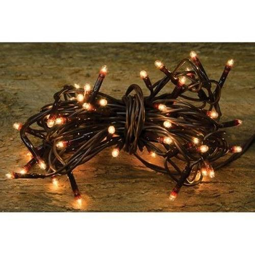 Teeny Tiny Rice Light String Brown Cord -- 35 Count
