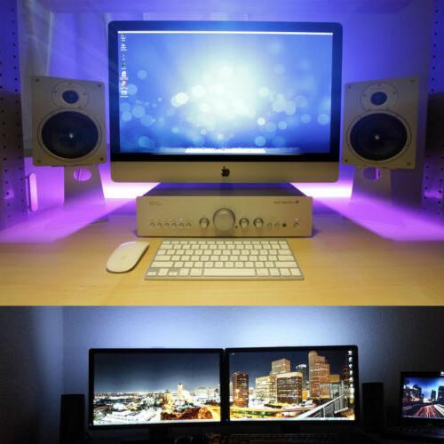TV 2x50CM+2x100CM USB RGB 5050 Light Remote 5V 30Leds/M