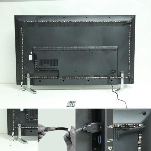 TV Backlight USB RGB Strip Light Remote 30Leds/M