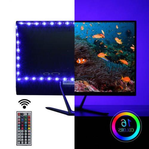 TV LED 2x50CM+2x100CM USB Light Remote 30Leds/M