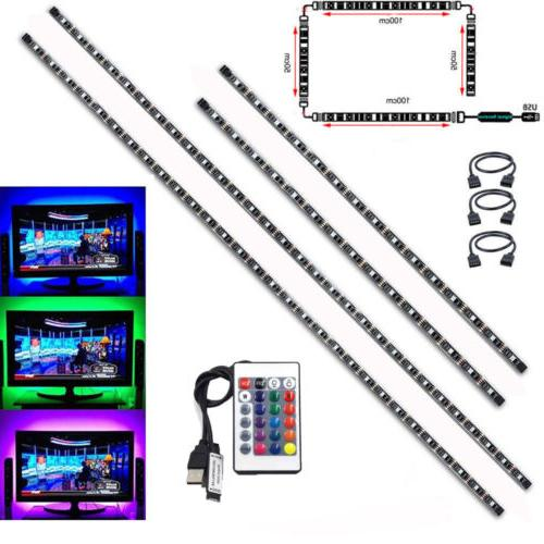 tv led backlight 2x50cm 2x100cm usb rgb