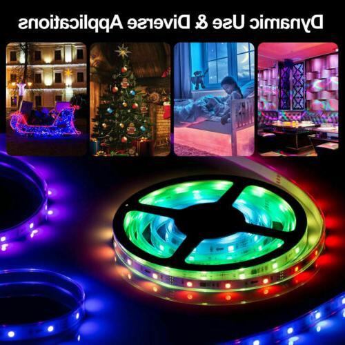32FT Flexible LED Light Remote Lights TV Party
