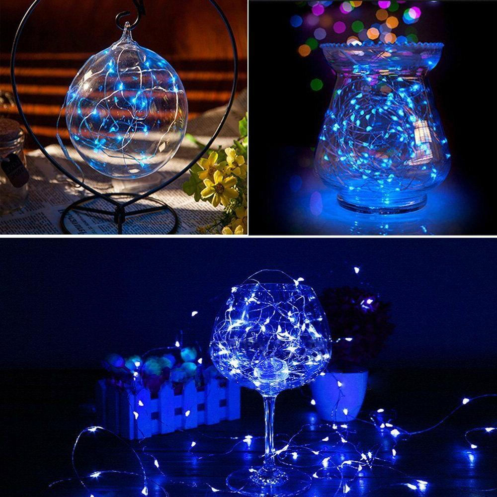 USA Timer Wire Outdoor Fairy String Lights 200LEDs Power