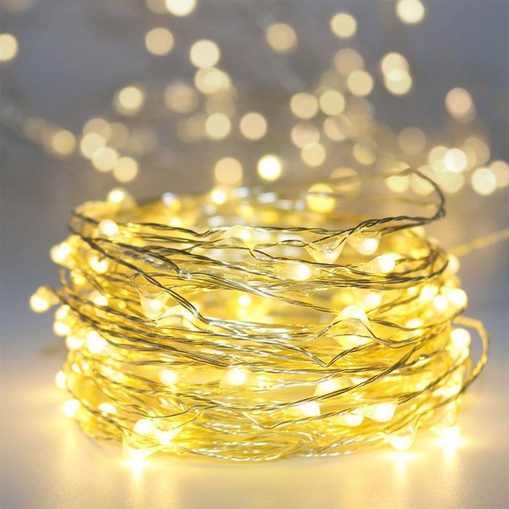 USA LED Silver Wire Outdoor String Power