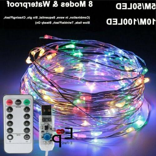 USB Twinkle LED Fairy Lights Party 5-20M